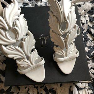 """White Giuseppe Zinotti """"cruel summer"""" heels"""